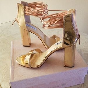 Rose Gold heels Never Worn brand New